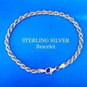 ROPE CHAIN BRACELET STERLING SILVER 925 STACKING
